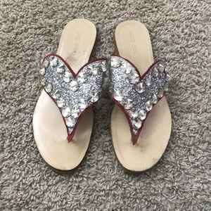 Miu Miu Jeweled Heart Sandal